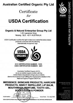 USDA Certification