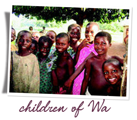 Village children of Wa