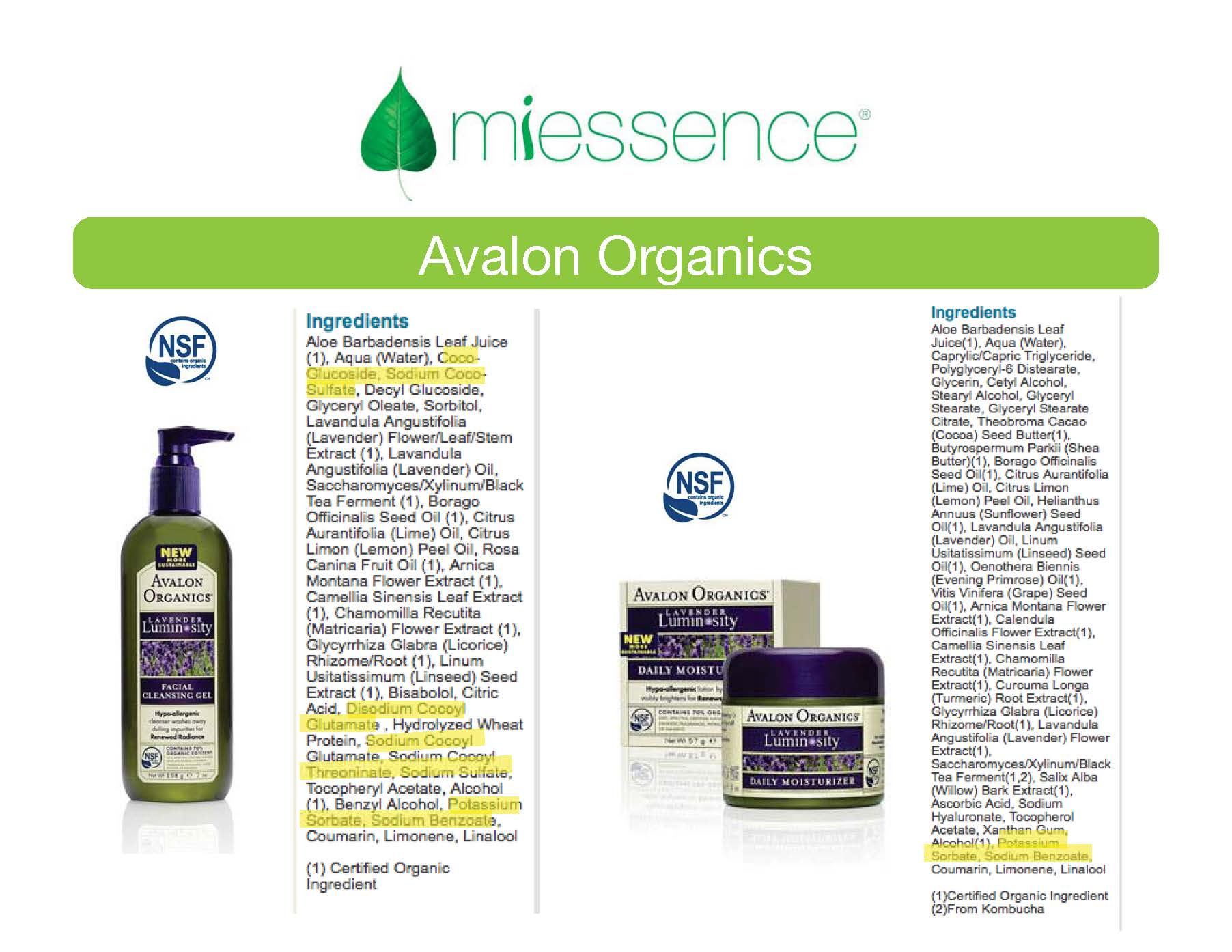 Is avalon organics really organic