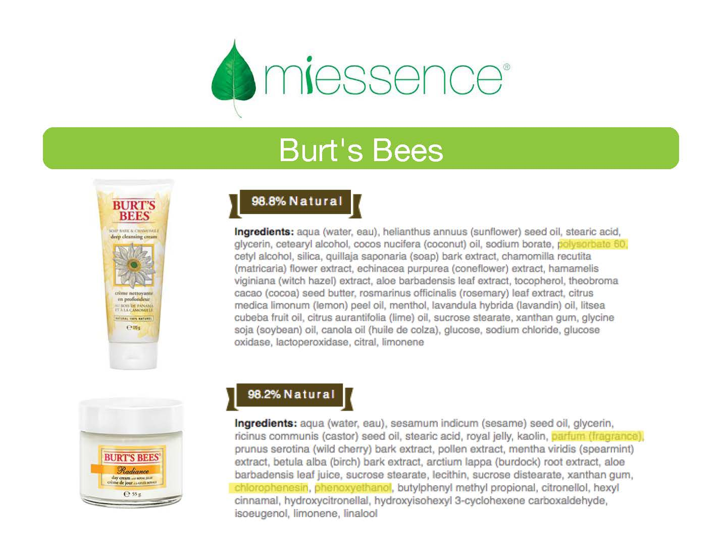 Is burts bees organic